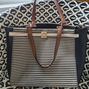 Kate Spade Black&White striped purse New w/out tag